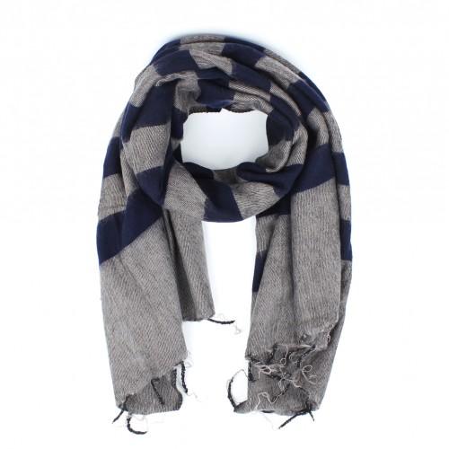 Sjaal Taupe Blauw