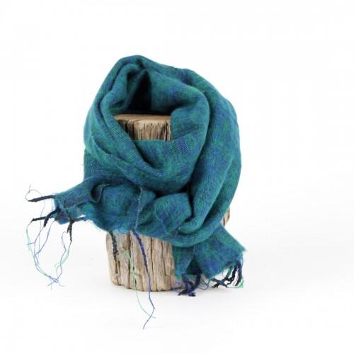 Kleine Sjaal Aquagroen