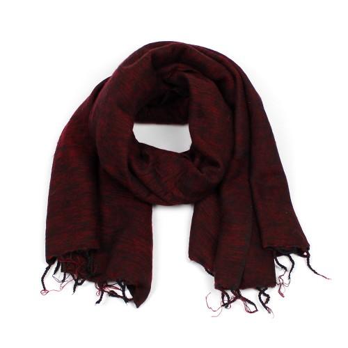 Sjaal Bordeauxrood