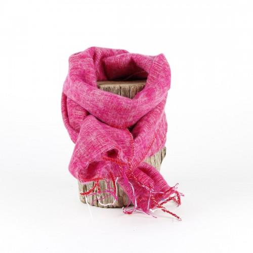Kleine Sjaal Fuchsia Gemêleerd