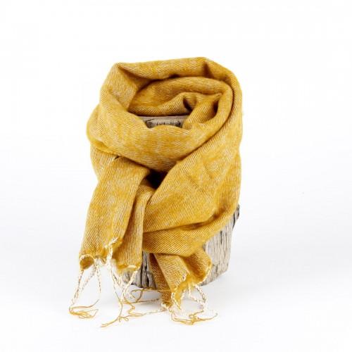 Kleine Sjaal Okergeel