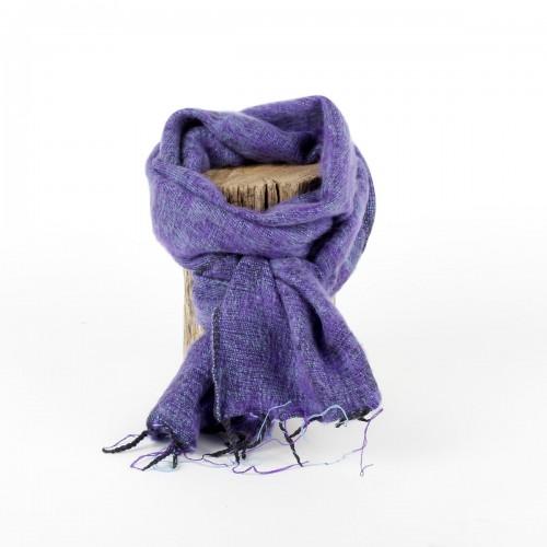 Kleine Sjaal Paars Gemêleerd