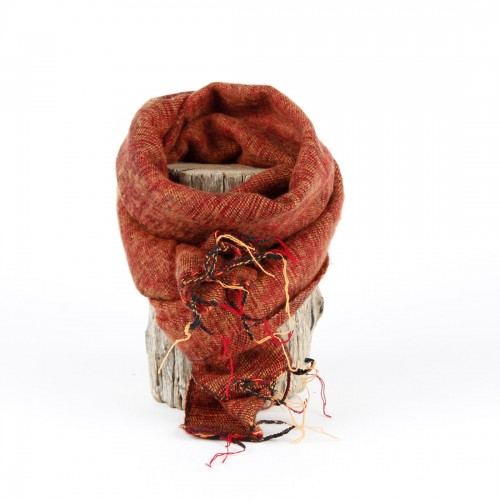 Kleine Sjaal Oranjebruin