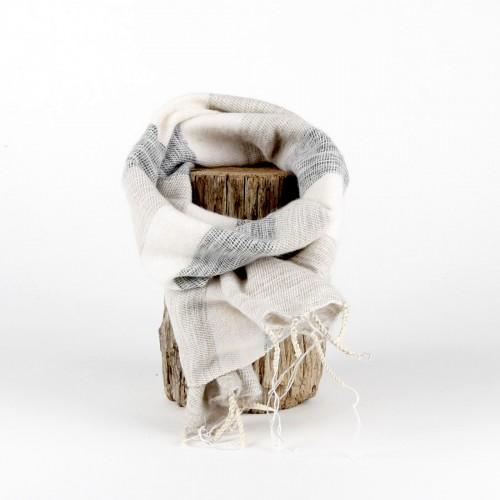 Kleine Sjaal Crème Grijs
