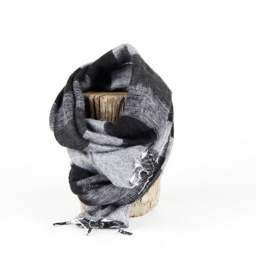 Kleine Sjaal Zwart Grijs