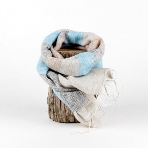Kleine Sjaal Ibizablauw Crème