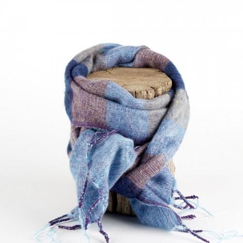 Kleine Sjaal Jeansblauw Blauw