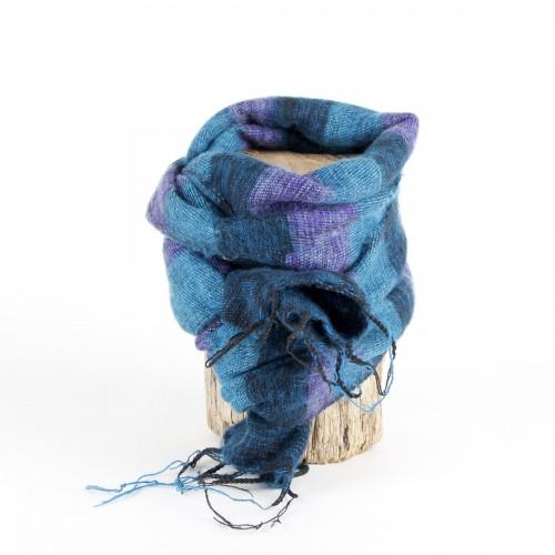 Kleine Sjaal Turquoise Paars