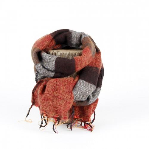 Kleine Sjaal Oranjebruin Taupe