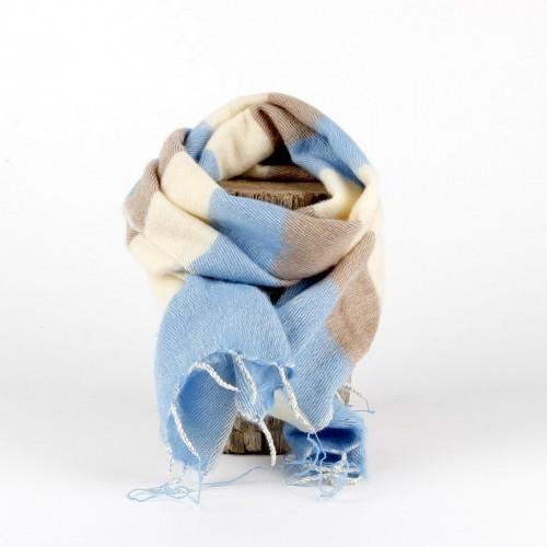 Kleine Sjaal Babyblauw Crème