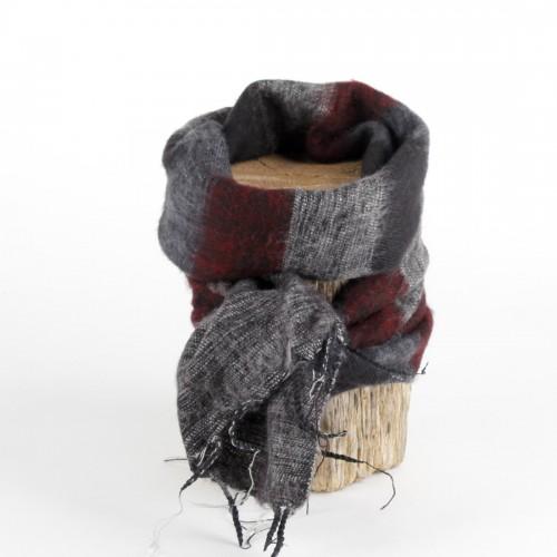 Kleine Sjaal Bordeaux Zwart