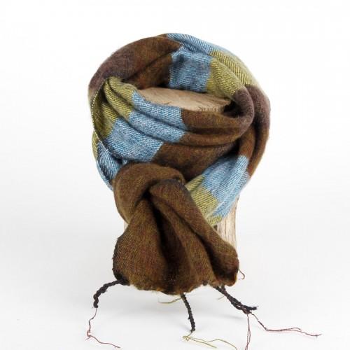 Kleine Sjaal Blauw Bruin Groen