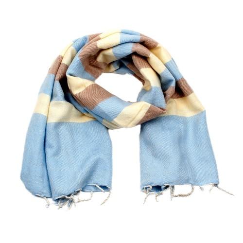 Sjaal Babyblauw Crème