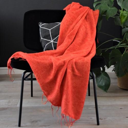 Plaid Warm Oranje