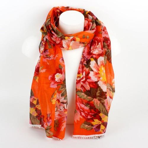 Bloemensjaal Oranje