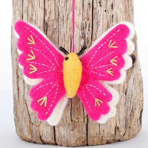 Hanger Vlinder Fuchsia