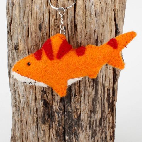 Sleutelhanger Vilt Haai Oranje