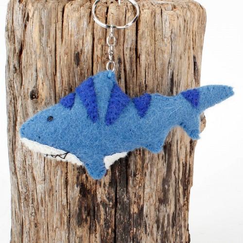 Sleutelhanger Vilt Haai Blauw