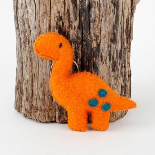 Sleutelhanger Vilt Dino Oranje