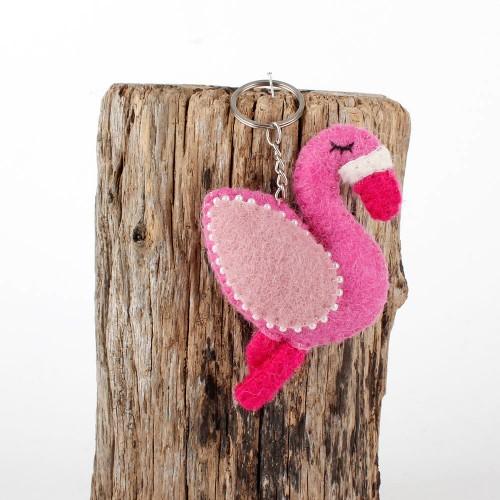 Sleutelhanger Vilt Flamingo