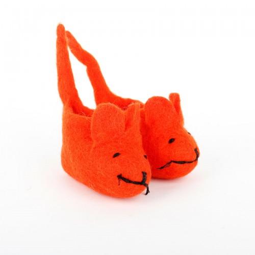 Slofjes Muis met Staart Oranje
