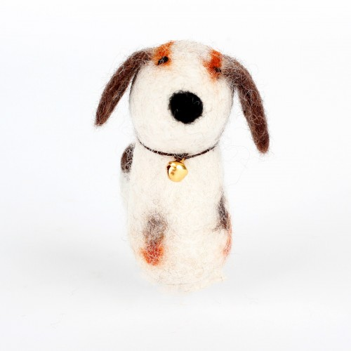 Vingerpopje Hond 3D