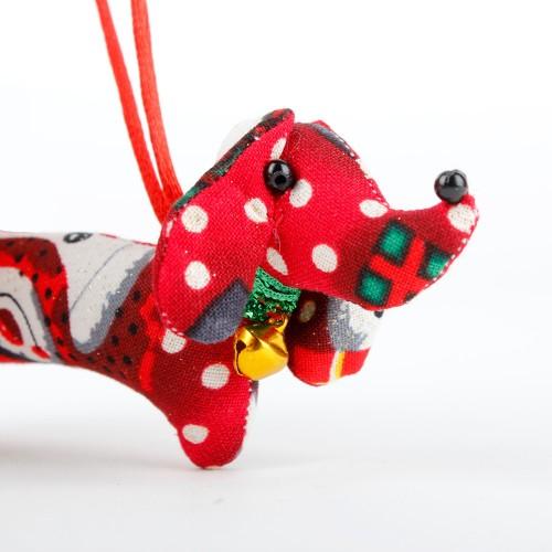 Kerstteckel Sneeuwpop Rood