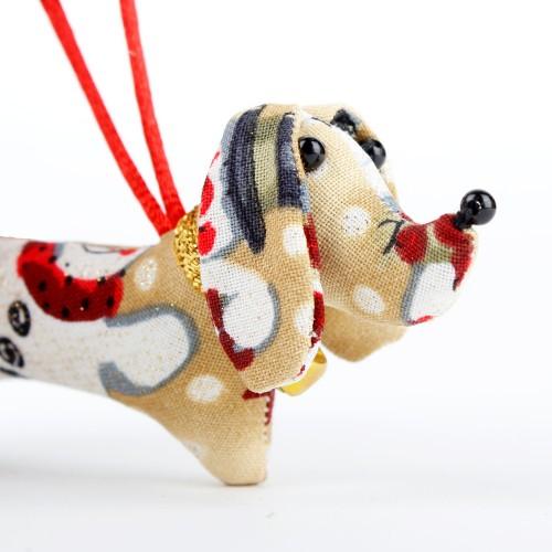 Kerstteckel Sneeuwpop Beige