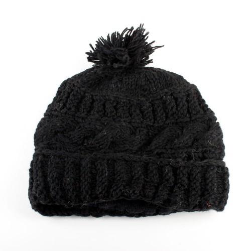 Muts Pompom Zwart