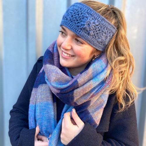 Haarband Jeansblauw