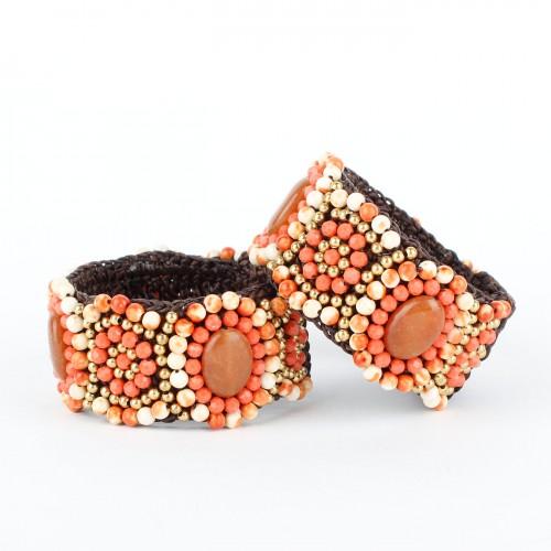 Armband Abrikoos Smal