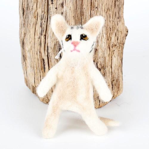Vingerpopje Kat 3D Wit