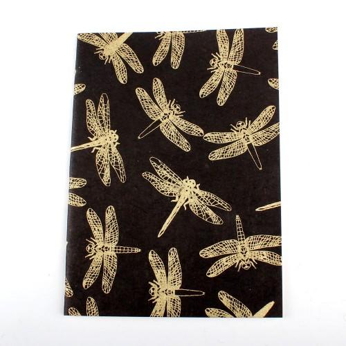 Notitieboekje Libelle Zwart