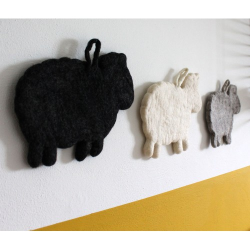Decoratie Schaap Wit