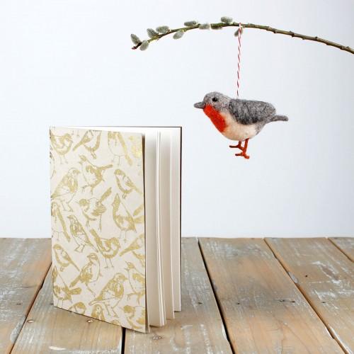 Notitieboekje Tuinvogels Wit