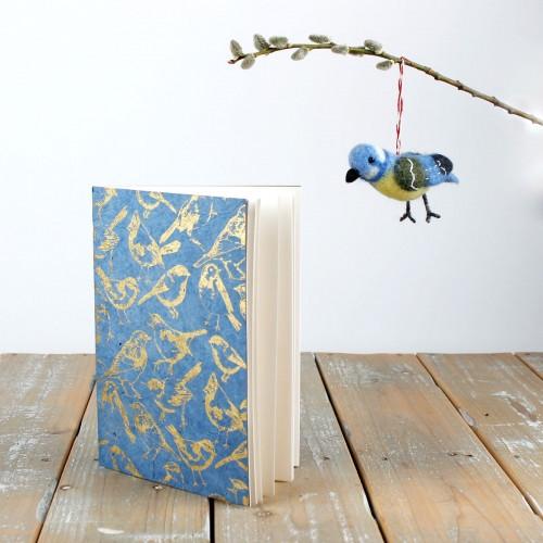 Notitieboekje Tuinvogels Blauw