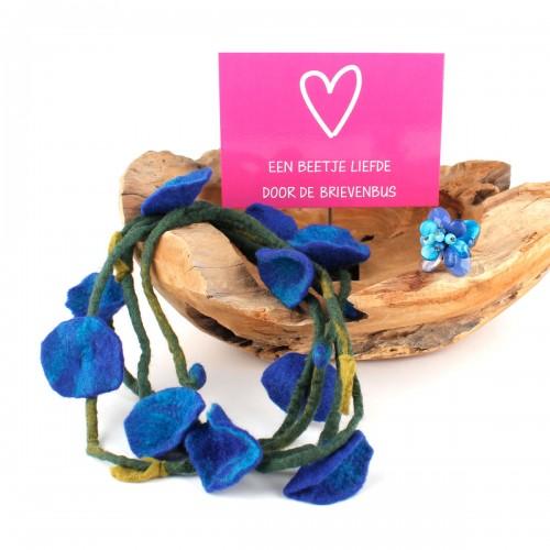 Cadeaupakket Bloem Blauw
