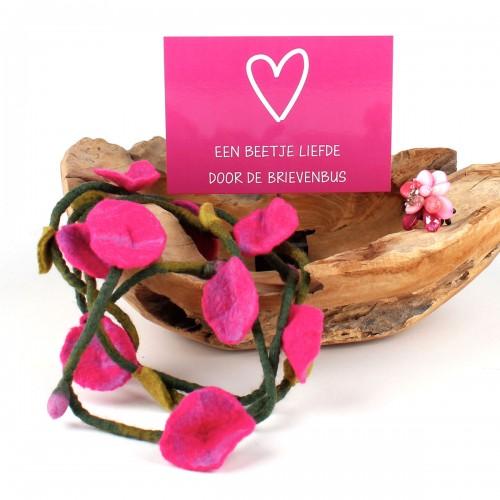 Cadeaupakket Bloem Fuchsia