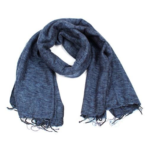 Sjaal Jeansblauw Grijs