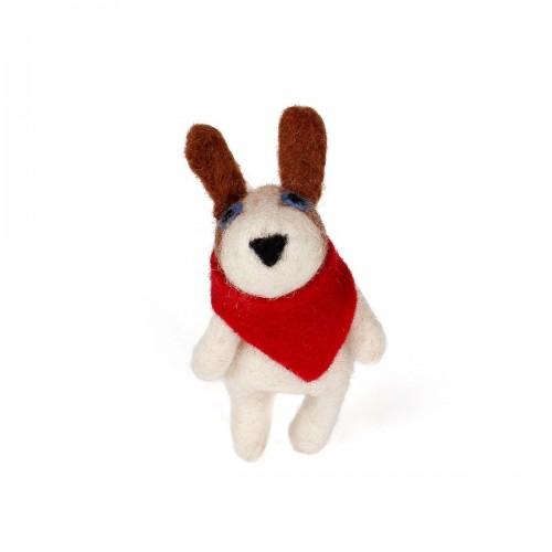 Vingerpopje Hond met Sjaal 3D