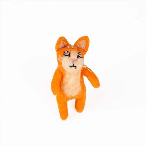 Vingerpopje Kat 3D Oranje