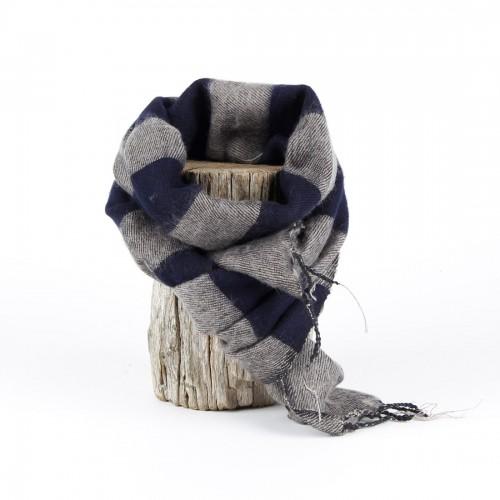 Kleine Sjaal Taupe Blauw