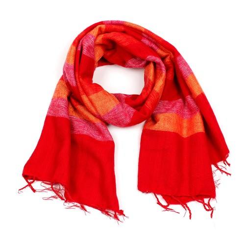 Sjaal Fuchsia Rood Oranje