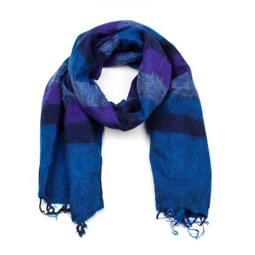 Sjaal Donkerblauw Paars