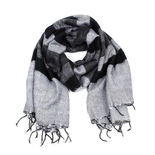 Sjaal Zwart Grijs