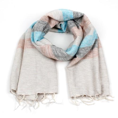 Sjaal Ibizablauw Crème
