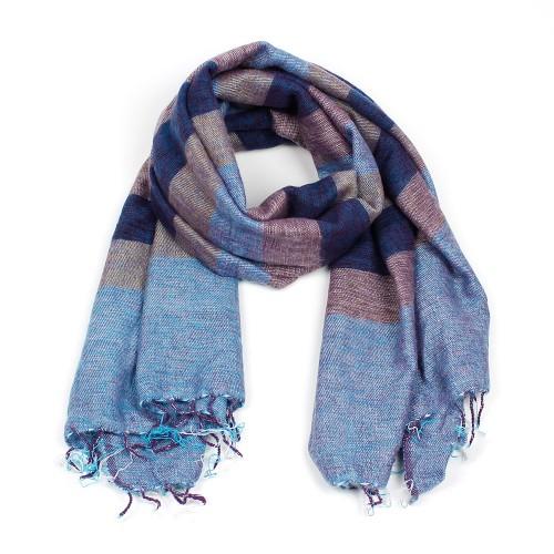 Sjaal Jeansblauw Blauw