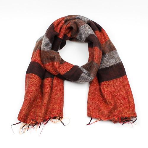 Sjaal Oranjebruin Taupe
