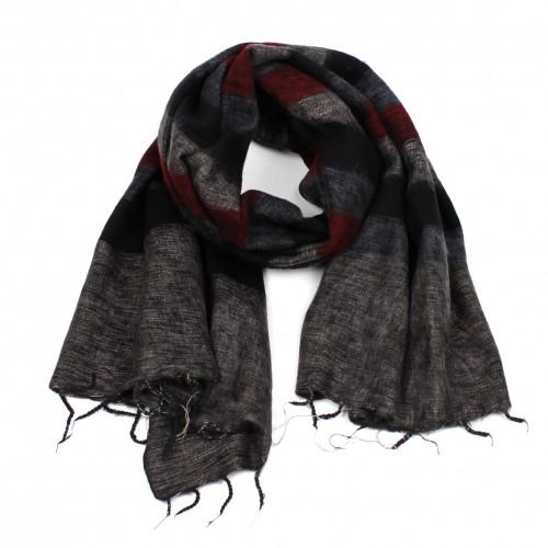 Sjaal Bordeaux Zwart